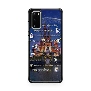 Disney Lessons Learned Mash Up Background Castle Samsung Galaxy S20 Phone Case