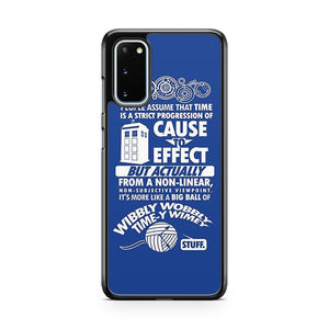 Doctor Who Quote Tardis Samsung Galaxy S20 Phone Case
