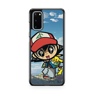 Pokemon Ash Pikachu Chibi Samsung Galaxy S20 Phone Case