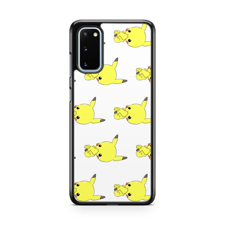 Pokemon Cute Pikachu Biting Tail Samsung Galaxy S20 Phone Case