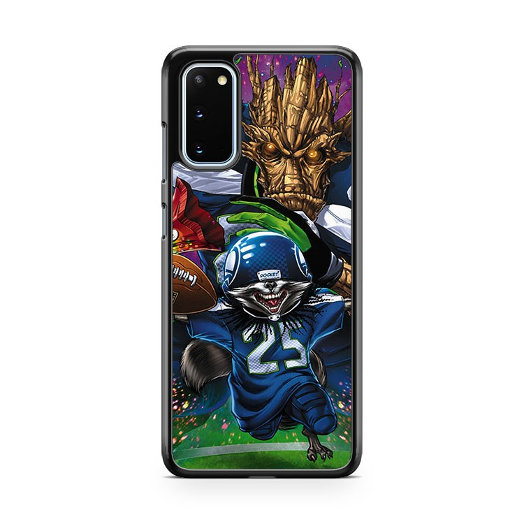 Seahawks Groot Rocket Canoon Samsung Galaxy S20 Phone Case