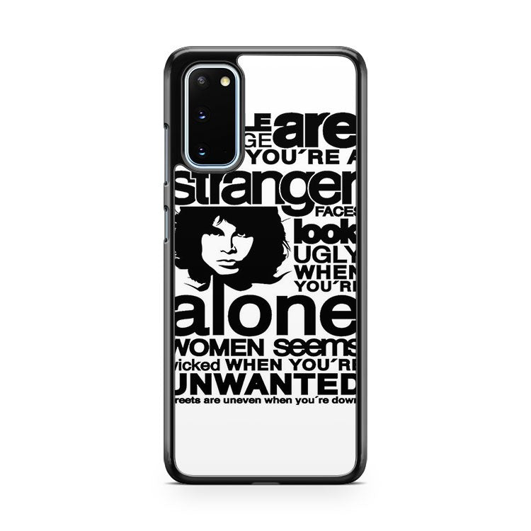 The Doors Member Head Face Words Samsung Galaxy S20 Phone Case