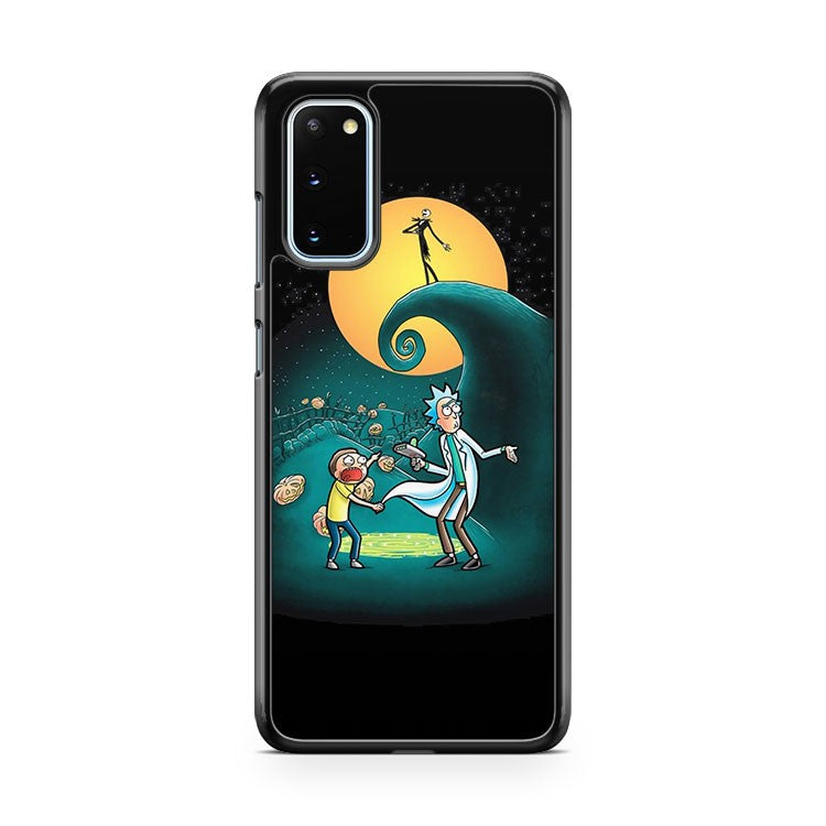 Rick And Morty Portal Nightmare Before Christmas Samsung Galaxy S20 Phone Case