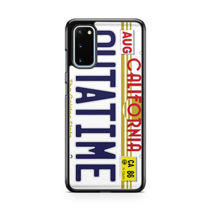 Back To The Future Delorean License Plate Samsung Galaxy S20 Phone Case