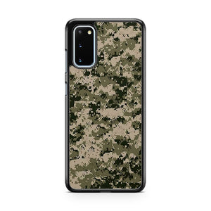 Digital Camouflage Camo Army Pattern Samsung Galaxy S20 Phone Case