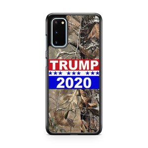 Donald Trump President 2020 Flag Real Tree Samsung Galaxy S20 Phone Case