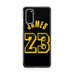 Lebron James Jersey Los Angeles Lakers Lbj No 23 Samsung Galaxy S20 Phone Case