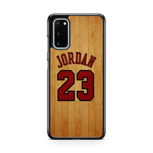 Michael Jordan On Wood Number 23 Basketball Samsung Galaxy S20 Phone Case