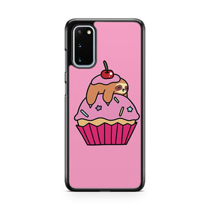 Cupcake Sloth Samsung Galaxy S20 Case Cover