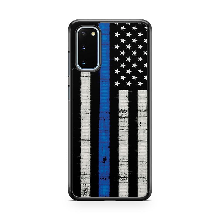 Police Blue Line Flag Samsung Galaxy S20 Phone Case