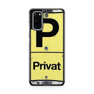 Private Place Street Photo Cologne Germany Samsung Galaxy S20 Phone Case