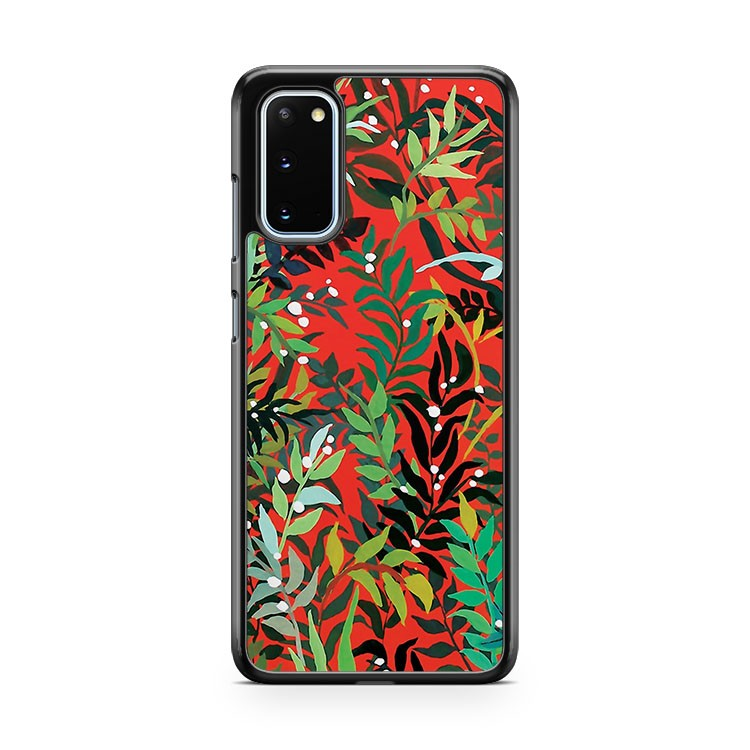 Red Leaves Samsung Galaxy S20 Phone Case