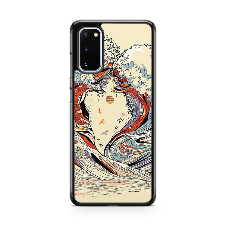 The Great Wave Of Love Samsung Galaxy S20 Phone Case