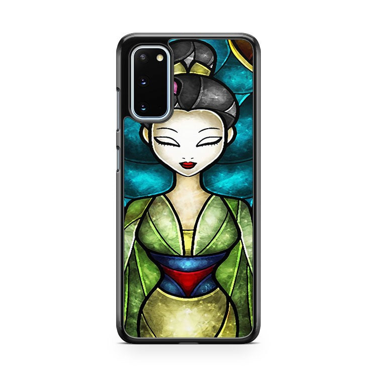 Disney Mulan Stained Glass Samsung Galaxy S20 Phone Case