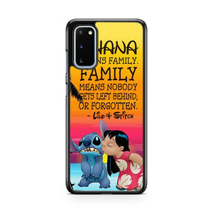 Lilo And Stitch Ohana Means Family Samsung Galaxy S20 Phone Case