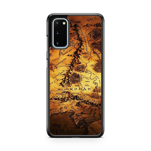 Map Of Middle Earth The Lord Of The Rings Samsung Galaxy S20 Phone Case