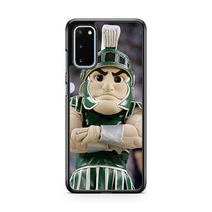 Mascot For The Michigan State Spartans Samsung Galaxy S20 Phone Case