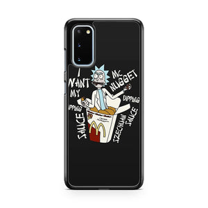 Rick And Morty Mcdonalds Szechuan Sauce Samsung Galaxy S20 Phone Case