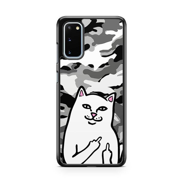Ripndip Cat Black And White Camouflage Samsung Galaxy S20 Phone Case