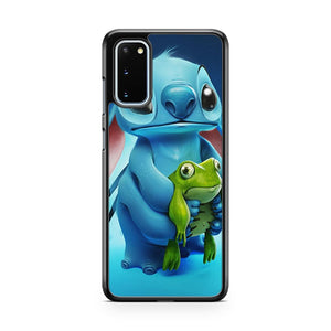 Sad Face Stitch And Frog Samsung Galaxy S20 Phone Case