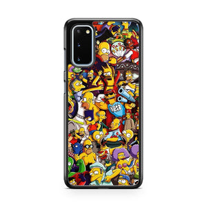 The Gangs All Here Simpsons Samsung Galaxy S20 Phone Case