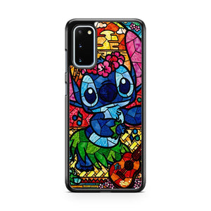 Disney Stitch Stained Glass Samsung Galaxy S20 Phone Case