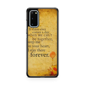 Disney Winnie The Pooh Piglet Friendship Quote Samsung Galaxy S20 Phone Case