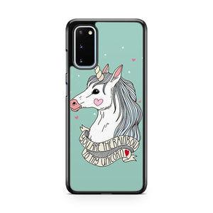 Lovely Unicorn Pattern Printed Thin Samsung Galaxy S20 Phone Case