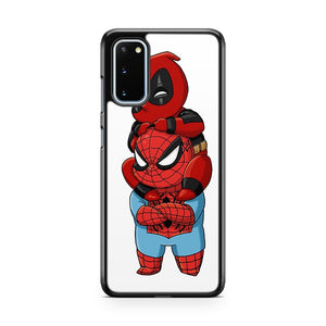 Deadpool And Spiderman Chibi Samsung Galaxy S20 Phone Case