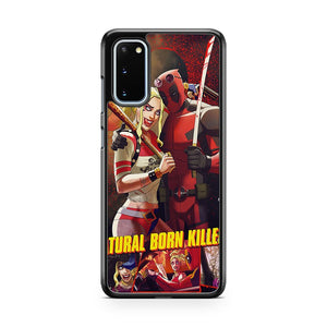 Deadpool And Harley Quinn Are Natural Born Killers Samsung Galaxy S20 Phone Case