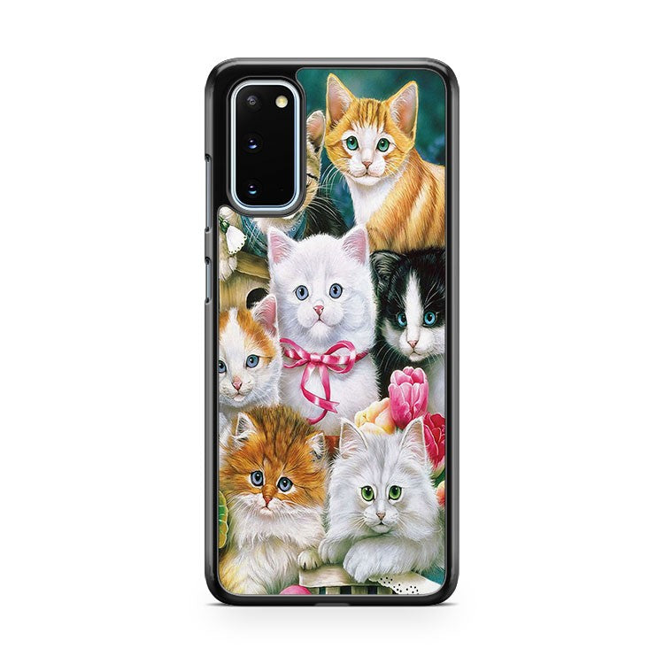 Dog Cat Puppy Kitty Animal Flower Samsung Galaxy S20 Phone Case