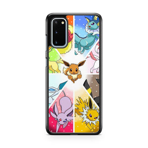 Pokemon Colourful Eevee Pikachu Samsung Galaxy S20 Phone Case