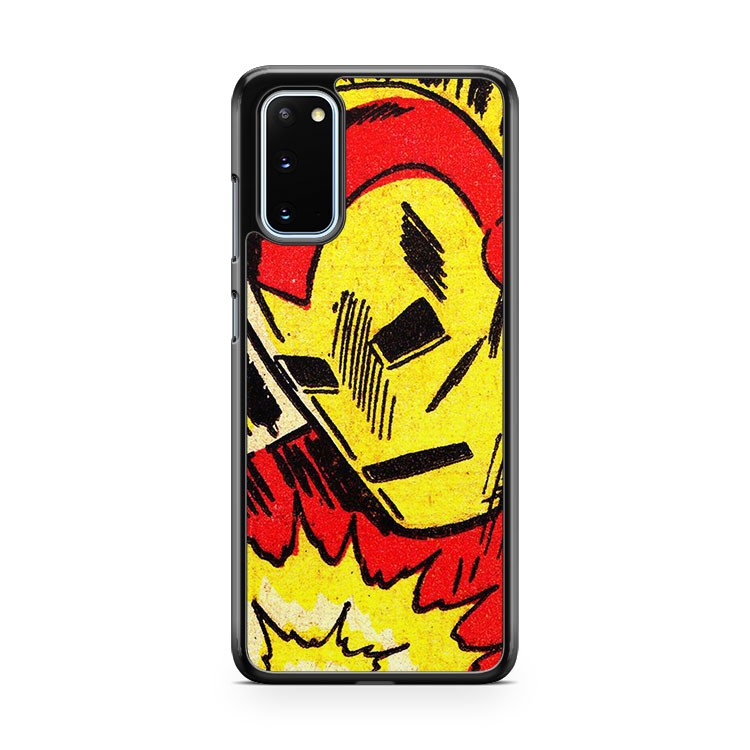 Marvel Comic Classic Iron Man Samsung Galaxy S20 Phone Case