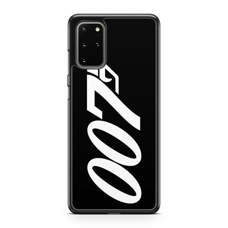 007 James Bond White And Black Samsung Galaxy S20 Plus Phone Case