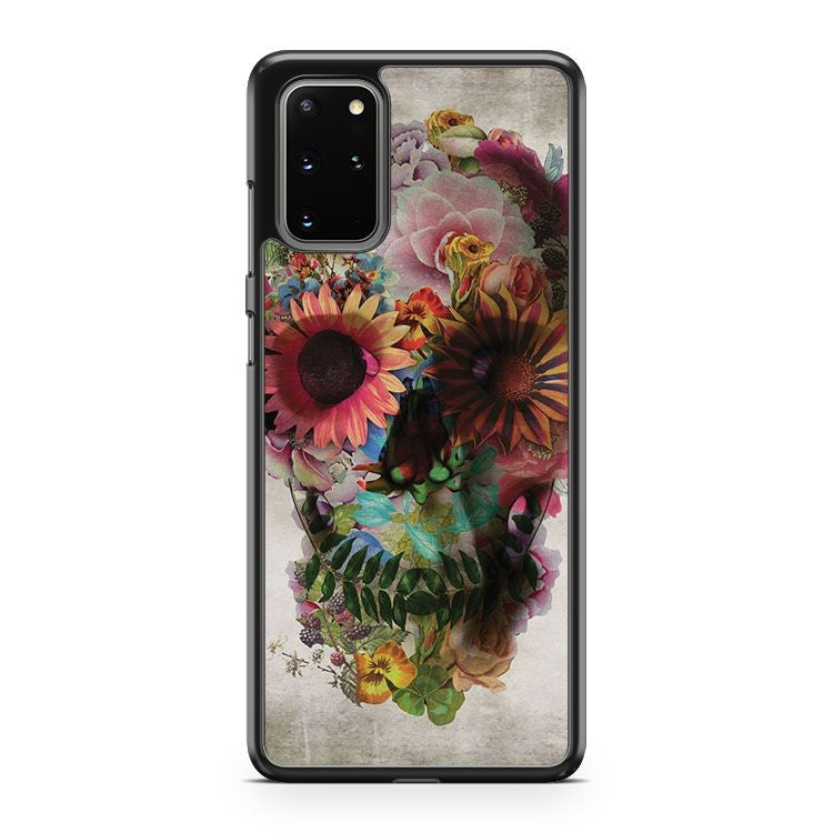 Floral Skull Samsung Galaxy S20 Plus Phone Case
