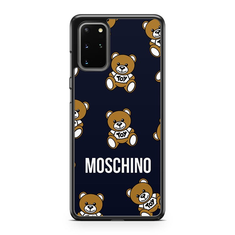 Moschino Teddy Bear Pattern Samsung Galaxy S20 Plus Phone Case