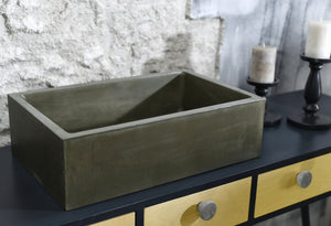 Witi - Dark Green Bathroom Sink - robertotiranti.shop