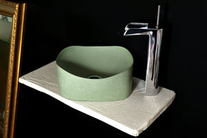 Libby  -  Green Bathroom Sink - robertotiranti.shop