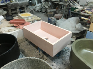 Witi - Pale Pink Bathroom Sink - robertotiranti.shop