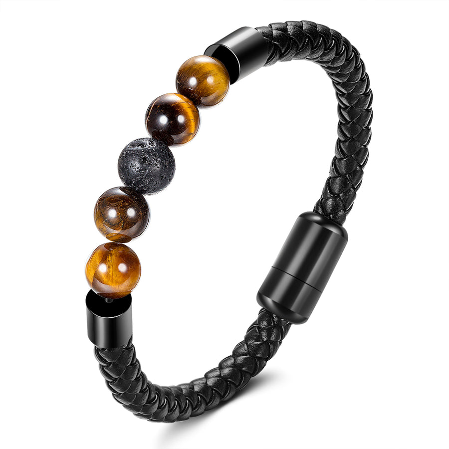 mens leather and bead bracelets
