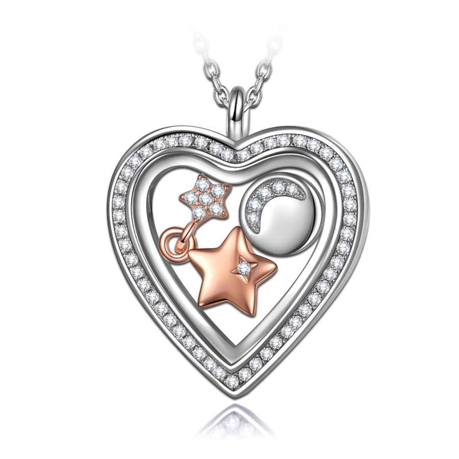heart locket necklace with chain
