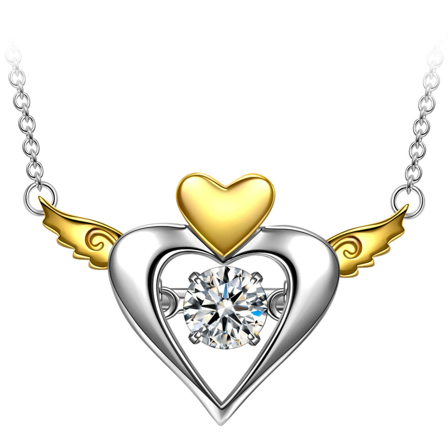 dainty gold heart necklace