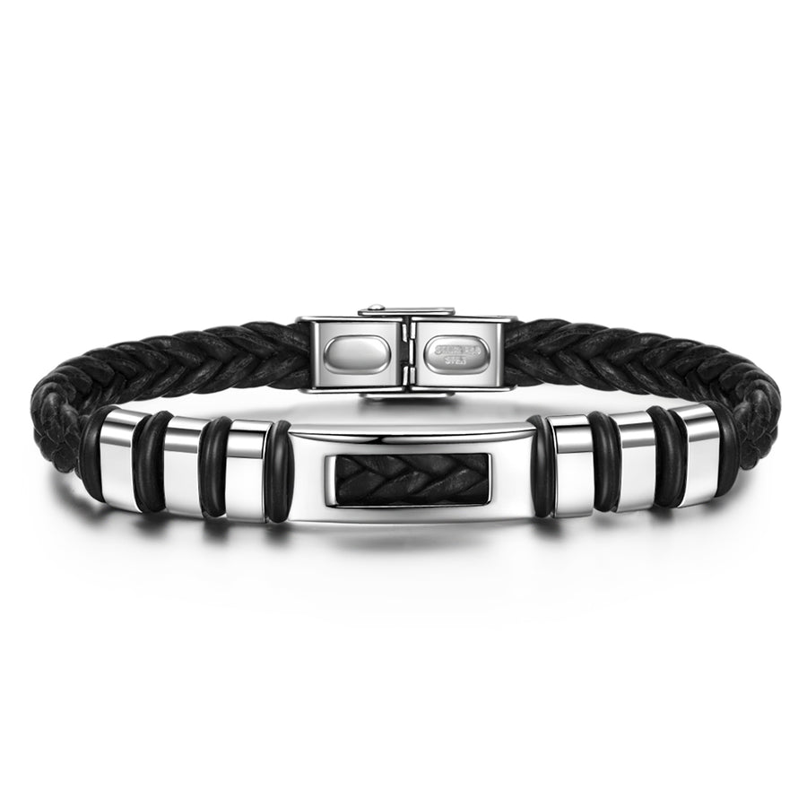 mens leather wristbands