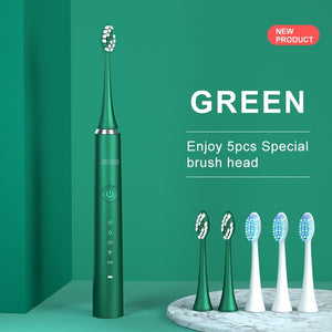 SEAGO Rechargeable Sonic Electric Toothbrush 5 Mode Waterproof Fast chargeable Electric Tooth Brush Head Adult  S2  Couple Gift