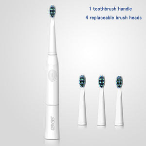 SEAGO Electric Toothbrush Sonic Electric Toothbrush Teeth Cleaning Electrical Toothbrush Dental Electric Brush 4 Nozzles