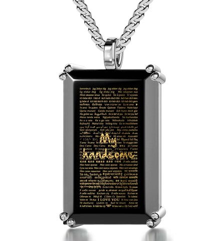 I LOVE YOU IN 120 LANGUAGES NECKLACE - Nano Asia Jewelry - Unusual, Unique Gift with 24K Gold Inscription arts