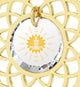 Body & Mind - Mandala with Exclusive 24 karat pure gold inscription