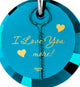 """I Love You More"" - Climber Pendant with Exclusive 24 karat pure gold inscription"
