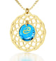 Zodiac - Mandala inscribed exclusively in 24k pure gold - Born between April 20 to July 22