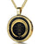 Serenity Prayer Round Onyx Pendant with Exclusive 24 karats pure gold inscription